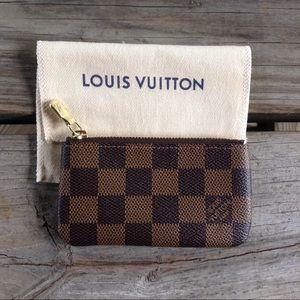 Louis Vuitton Cles Key Pouch Damier Ebene